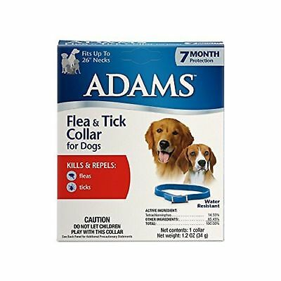"""Adams Flea & tick Collar For dogs 7 Month Supply fits up to 26"""" necks"""