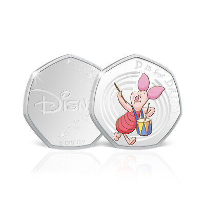 Winnie the Pooh 50p Shaped Limited Edition Collectable Coin - D is for Drum