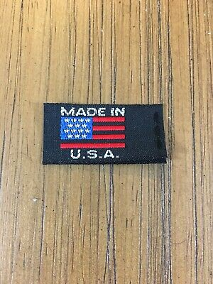 Qty 250 Made in the USA Flag Small Woven Label