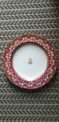 Antique Copeland Spode Plate 1850 - 1895 Stunning With Dog In Crown