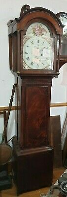 Long case Clock Panted DIAL Eight Day  Full working order C1810