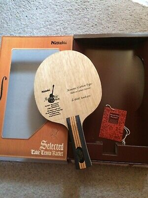 Nittaku Accoustic Carbon Outter Table Tennis Blade (Large Flared Handle)