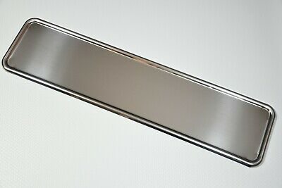 1 x TOP CHROME STAINLESS STEEL NUMBER PLATE SURROUND HOLDER FRAME