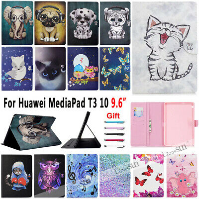 """For Huawei MediaPad T3 10 AGS-W09/L09/L03 9.6"""" Leather Cover Wallet Case Stand"""