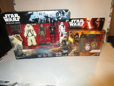 Star Wars Rogue One and The Force Awakens Action Figure Box Sets BNISB LOT 8