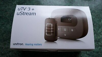 Unitron uTV3 & uStream Discount Bundle Deal BRAND NEW RRP £399 for hearing aids