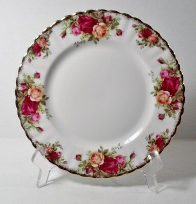 "4 Royal Albert OLD COUNTRY ROSES 8"" Salad Plates EXCELLENT"