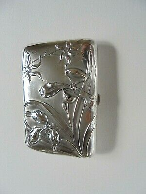 Antique Silver Art Nouveau Cigarette Case