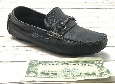 97f02d9b92a COLE HAAN Shelby Bit II Womans 6B Driving Loafers Black Pebbled Leather  Mocs EUC