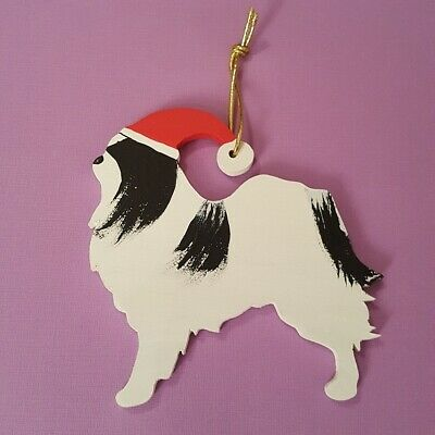 Japanese Chin Dog Christmas Hanging Decoration Handcrafted Fast Despatch