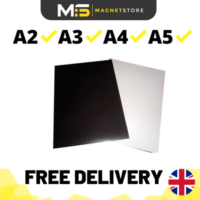 Premium Self Adhesive Magnetic Sheet Strong Flexible Car Sign A2 A3 A4 0.5mm