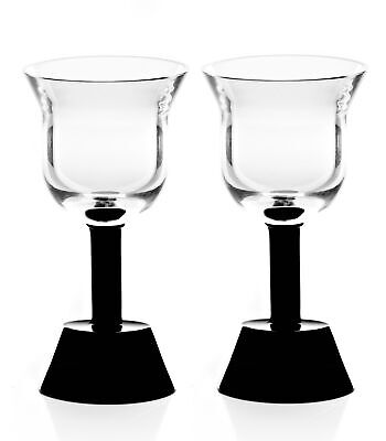 Ettore Sottsass Orfeo Calice Vino Nero Wine Goblet 15cl  Black (Twin Pack) 15cl