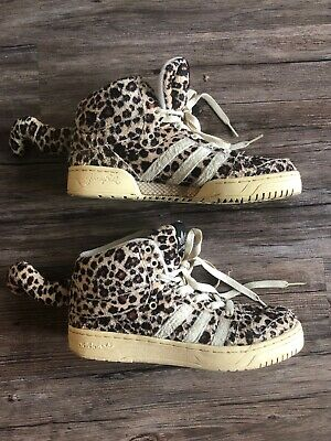 c3fbbbdacdb8 Mens Size 7.5 Adidas Originals Jeremy Scott JS LEOPARDS V24536 Rare Cheetah  Tail
