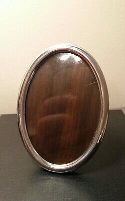 Solid Silver photo frame oval