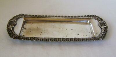 Old Sheffield Plate Snuffer Stand  / Pen Tray : C.1830 Silver on Copper