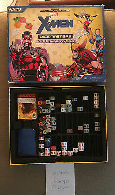 Dice Masters Uncanny X-Men Complete set of UNCOMMON cards with dice