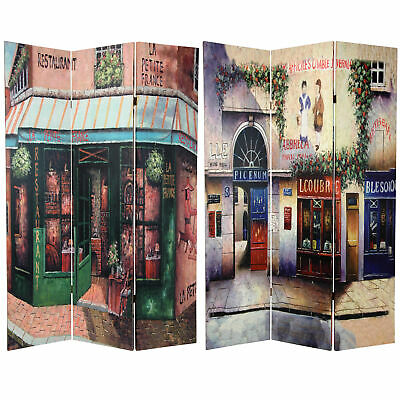Oriental Furniture 6 ft. Tall Double Sided Parisian Street Room Divider