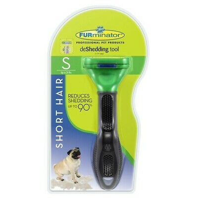 FURminator deShedding Tool for Short Hair Small Dogs up 20lbs