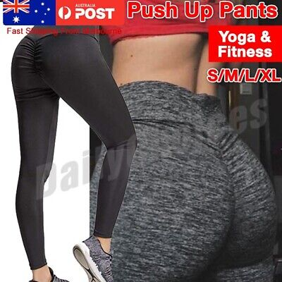 Women's Yoga Pants PUSH UP Fitness Leggings Sports Scrunch Stretch Trousers G78