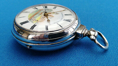Rare Pair Case Verge Fusee Pocket Watch - Speed The Plough - 1840 - Serviced !