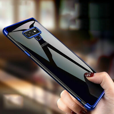 For Samsung Note 9 S9 S8 Plus Clear Soft TPU Silicone Thin Skin Back Case Cover
