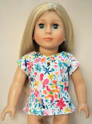 """18"""" Dolls Clothes to fit American Girl Doll Our Generation Cap Sleeve T-Shirt"""