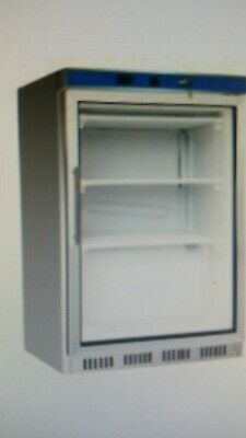 Fed Commercial Stainless Steel Under Counter Glass Door Freezer Hf200G