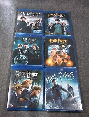 Lot Of 6 Harry Potter Blu-Ray Dvd 5 Unopened