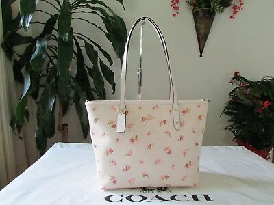 85a1ee3239cb NWT COACH F29487 Daisy Floral Print Coated Canvas City Zip Tote ...