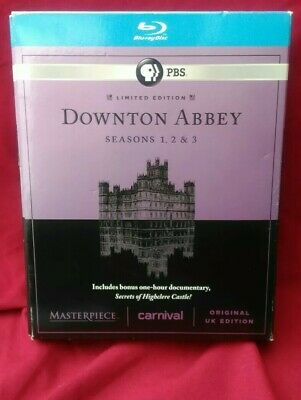 Masterpiece: Downton Abbey  Seasons 1-3 (Blu-ray Disc, 2013, 9-Disc Set) Limited