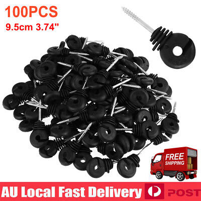 100X Electric Fence Ring Insulator Screw-In Ring Polyrope Insulator Wood Post