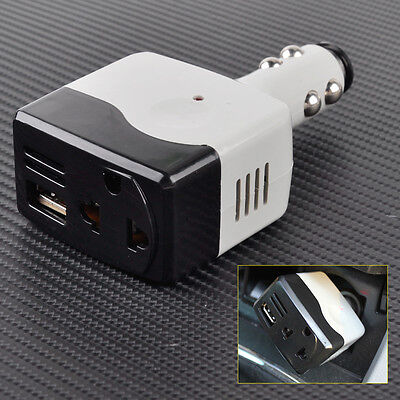 12V 24V DC to 220V AC Car Auto USB Plug Charger Power Converter Inverter Adapter