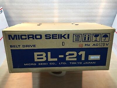 VINTAGE MICRO SEIKI BL-21 Record Player Turntable Box Only
