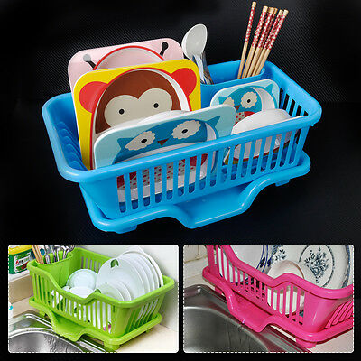Kitchen Sink Dish Drainer Rack Drying Tray Sink Washing Holder Basket Organizer