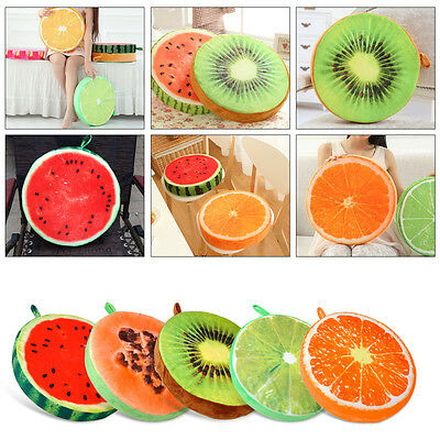 3D Creative Fruit Chair Seat Sofa Plush Pad Cushion Throw Travel Pillow Cover