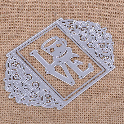 Love Frame Rectangle Dies Cutting Stencils Scrapbook Embossing DIY Craft Paper