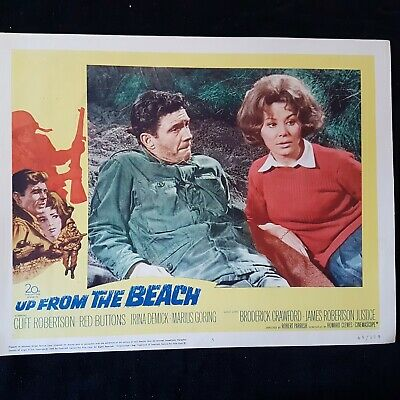 Vintage Lobby Card 1965 UP FROM THE BEACH Cliff Robertson Red Buttons Irina Demi