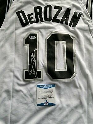 5ab2a4a68 DeMar DeRozan Signed San Antonio Spurs White Swingman Jersey w  Beckett COA  NBA