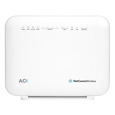 New  Netcomm Nf18acv Vdsl/Adsl Dual Band Modem Router Ac 1600 Wifi NF18ACV