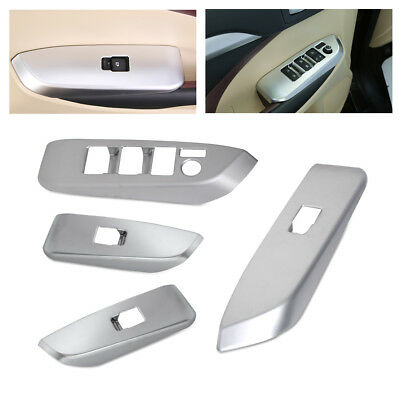 Door Window Control Switch Panel Cover Trim Fit For Toyota Highlander 2014-2017