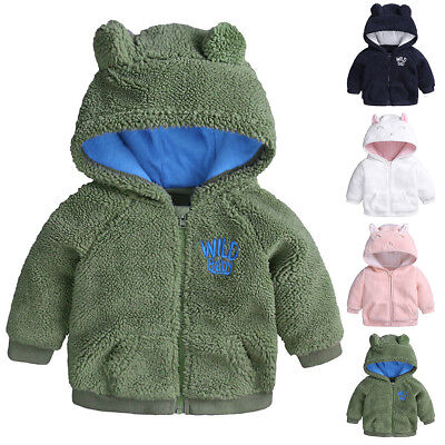 6cee49bb7 Cute Baby Girl Boy Kids Winter Warm Hoodies Hooded Sweater Jacket Coat  Outerwear