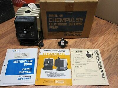 Pennwalt Chempulse Series 45, Solenoid Pump 1 Gph Multi Valve, New Fast Shipping