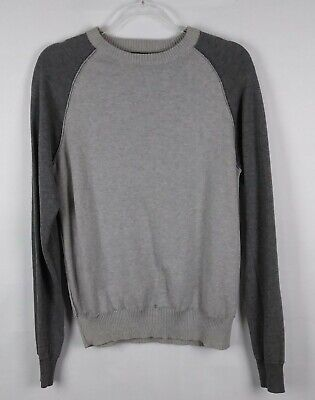 d606083a ZARA MAN DARK Gray Crew Neck Long Sleeve Pullover Sweater Size M Nwt ...
