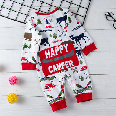 Newborn Toddler Baby Boys Girls Romper Jumpsuit Bodysuit Playsuit Clothes Outfit