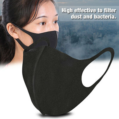 10PCS Outdoor Warm Mouth Mask Anti-dust Flu Face Mask Unisex Respirator Black