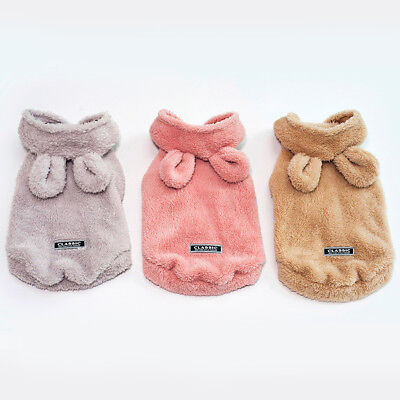 Small Pet Puppy Dog Hooded Sweater Coat Costume Hoodie Apparel Winter Clothing