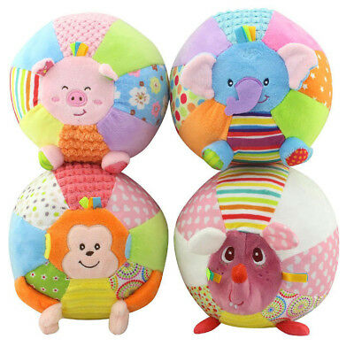 Kid Toddler Soft Stuffed My First Little Ball Infant Baby Sports Rattle Crib Toy
