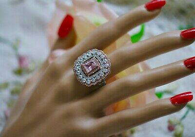 Art Deco Antique Jewellery Ring With Pink And White Sapphires Vintage Jewelry