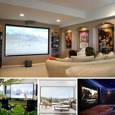 E476 Portable Projection Screen Projector Curtain Business PVC Foldable 84 Inch