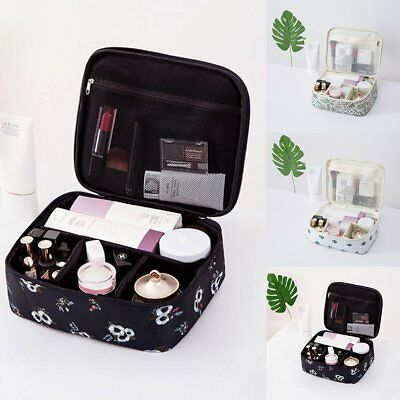 367a5f3e9682 3 PIECE TRAVEL Cosmetic Bag Set Makeup Black Gold, Toiletry Pouch ...